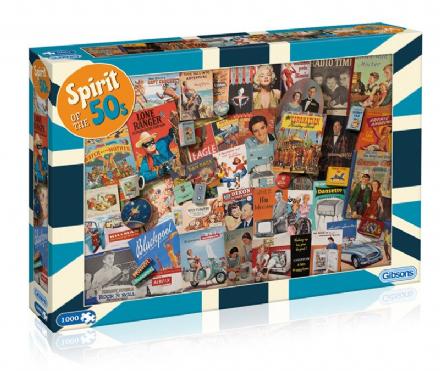 Spirit of the 1950's Jigsaw - 1000pc Jigsaw Puzzle